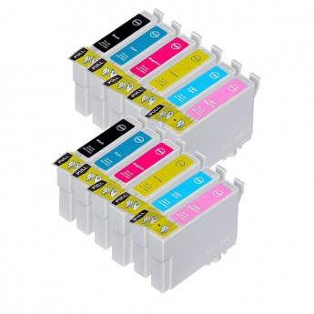 Epson 77 Remanufactured Ink Cartridge 12-Pack (2 Black + 2 of Each Color)