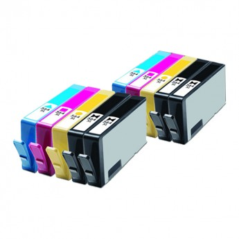 HP 564XL Remanufactured High-Yield Cartridge 10-Pack - Carrot Ink