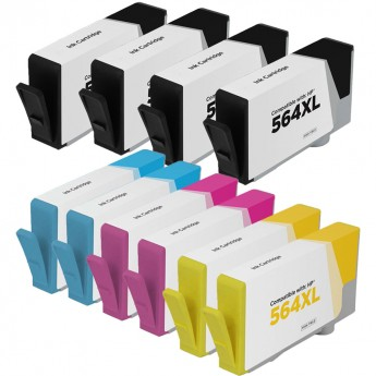 HP 564XL Remanufactured 10-Pack Combo Inkjets.com