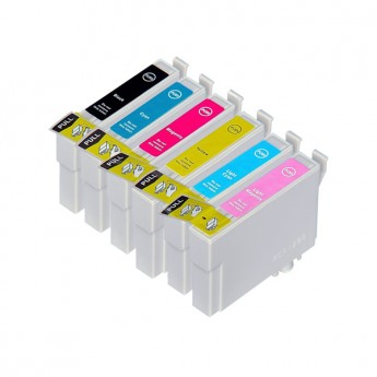 Epson 77 Remanufactured Ink Cartridge 6-Pack (1 Black + 1 of Each Color)