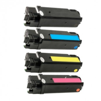 Xerox Phaser 6125 Compatible Toner Cartridge 4-Pack Combo_Carrot_Ink