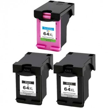 HP 64XL High-Yield Remanufactured 3-Pack Carrotink