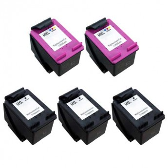 HP 65XL Remanufacttured 5-Pack Combo Carrotink
