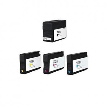 HP 932XL & 933XL Remanufactured Ink Cartridge 4-Pack