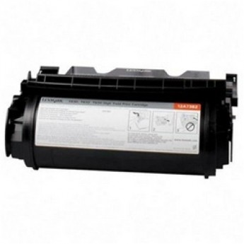 Lexmark 12A7365 Remanufactured Laser Toner Cartridge - Black High Yld.