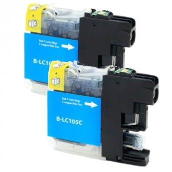 Brother LC105C Cyan Super High-Yield Compatible Ink Cartridge