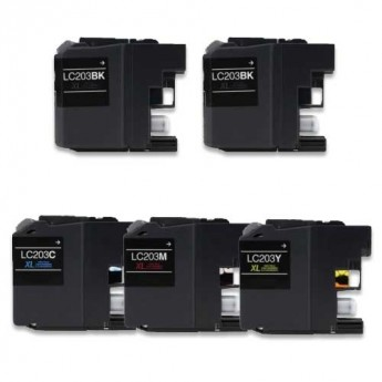 Brother LC203 5-Pack Ink Cartridge Carrot Ink