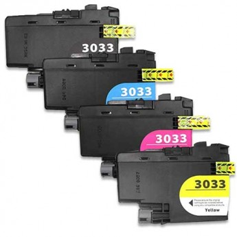 Brother LC3033 4-Pack Compatible Ink Cartridges Carrotink.com