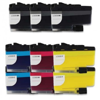 Brother LC3039 Ultra High-Yield Compatible Ink Cartridge 9-Pack Carrotink.com