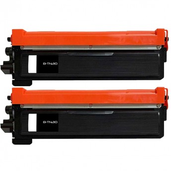 Brother TN210BK Black Compatible Toner Cartridge Twin Pack Carrot Ink