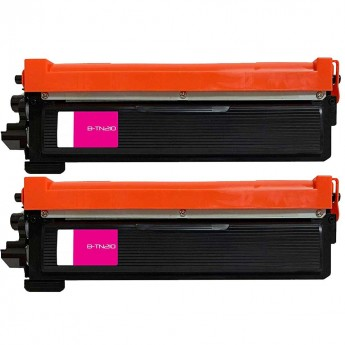 Brother TN210M Magenta Compatible Toner Cartridge Twin Pack_Carrot_Ink