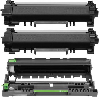 Brother TN770 & DR730 Super High-Yield Compatible 3-Pack Carrot Ink