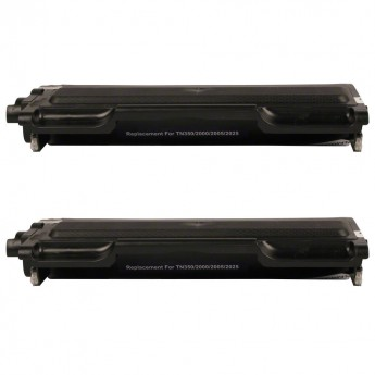 Brother TN350 Compatible Black Laser Toner Cartridge Twin Pack