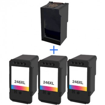 Canon CL-246XL Color High Yield Remanufactured Eco-Saver Ink Pod 3-Pack