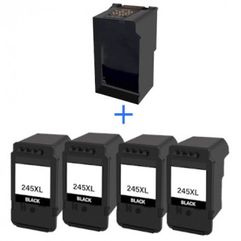 Canon PG-245XL Black High Yield Remanufactured Eco-Saver Ink Pod 4-Pack