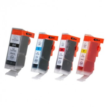 Canon BCI-3e Compatible Ink Cartridge 4-Pack