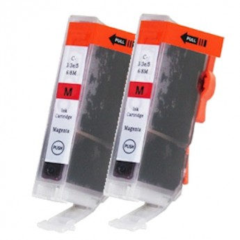 Canon BCI-6M (4707A003) Magenta Compatible Ink Cartridge Twin Pack