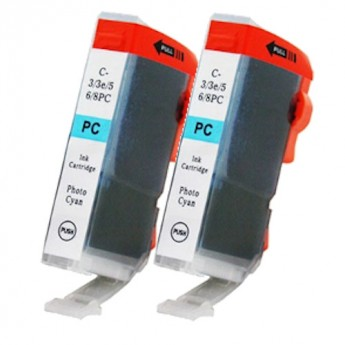 Canon BCI-6PC (4709A003) Photo Cyan Compatible Ink Cartridge Twin Pack