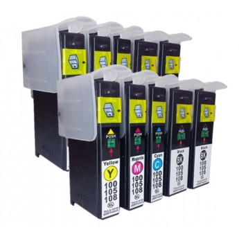 Lexmark 100XL High-Yield Compatible Ink Cartridge 10-Pack Combo_Carrot_Ink