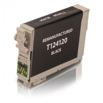 Epson 124 Black (T124120) Remanufactured Ink Cartridge - Mod. Yield