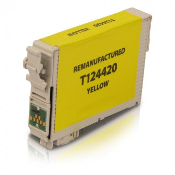 Epson 124 Ink, Epson T124420 Yellow Remanufactured Ink Cartridge