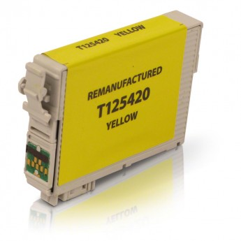 Epson 125 Yellow (T125420) Remanufactured Ink Cartridge