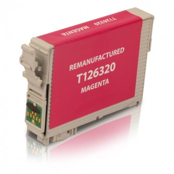 Epson 126 Magenta (T126320) Remanufactured Ink Cartridge - High Cap.