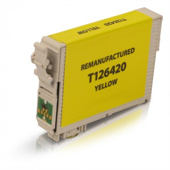 Epson 126 Yellow (T126420) Remanufactured Ink Cartridge - High Yield