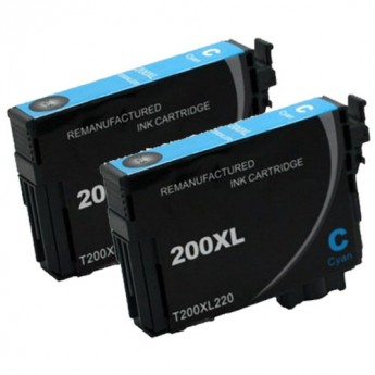 Epson 200XL Cyan Twin Pack Carrot Ink