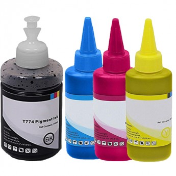 Epson 774 & 664 High-Yield Compatible Ink Bottle 4-Pack Carrot Ink