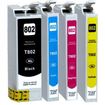 Epson 802XL Remanufactured 4-Pack Combo
