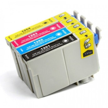 Epson 125 Ink, 4-Pack Remanufactured Ink Cartridges