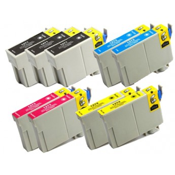 Epson 127 Extra High Yield Ink, 9-Pack Remanufactured Ink Cartridges