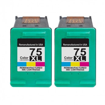 HP 75XL (CB338WN) Color High-Yield - Carrot Ink