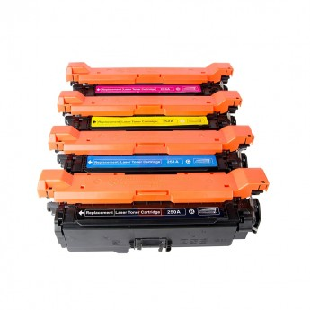 HP 504A Remanufactured Toner Cartridge 4-Pack Combo