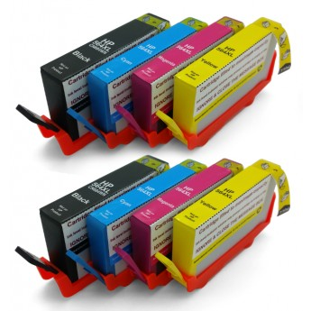 Remanufactured HP 564XL Ink Combo 8 Pack: 2 Black, 2 Cyan, 2 Magenta, 2 Yellow
