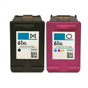 HP 61XL High-Yield Remanufactured Ink Cartridge 2-Pack