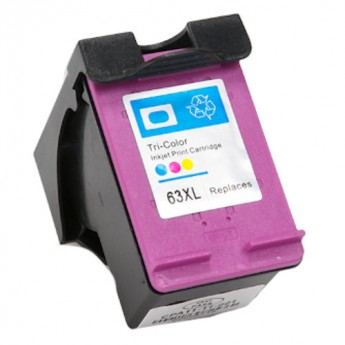HP 63XL (F6U63AN) Color High-Yield Remanufactured