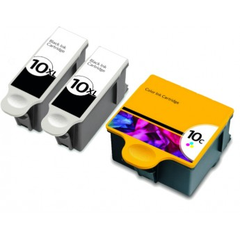 Kodak 10XL Combo 3-Pack Compatible Ink Cartridges