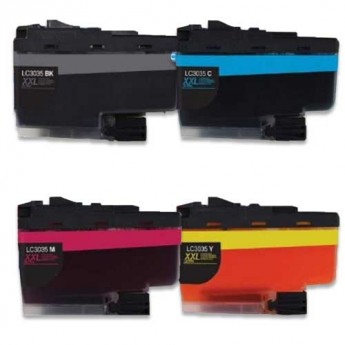 Brother LC3035 Ultra High-Yield Compatible Ink Cartridge 4-Pack Carrotink.com