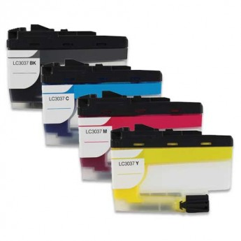 Brother LC3037 Super High-Yield Compatible Ink Cartridge 4-Pack Carrotink.com
