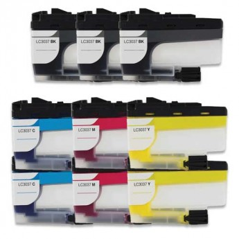Brother LC3037 Super High-Yield Compatible Ink Cartridge 9-Pack Carrotink.com