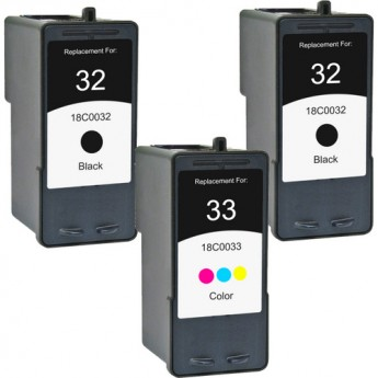 Lexmark 32 & 33 Remanufactured Ink Cartridge 3-Pack Combo_Carrot_Ink