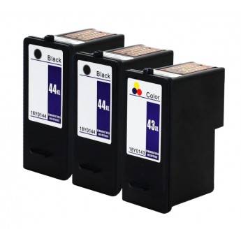 Lexmark 44XL & 43XL High-Yield Remanufactured Ink Cartridge 3-Pack Combo_Carrot_Ink