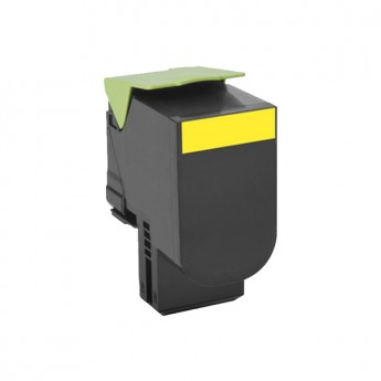 Lexmark 80C1SY0 Yellow Remanufactured Toner Cartridge