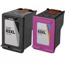 HP 63XL High-Yield Remanufactured Ink Cartridge 2-Pack