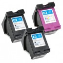 HP 63XL Remanufactured High-Yield Ink Cartridge 3-Pack